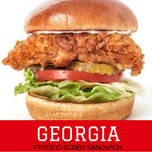 Georgia Fried Chicken Sandwich: National Championship Sandwiches