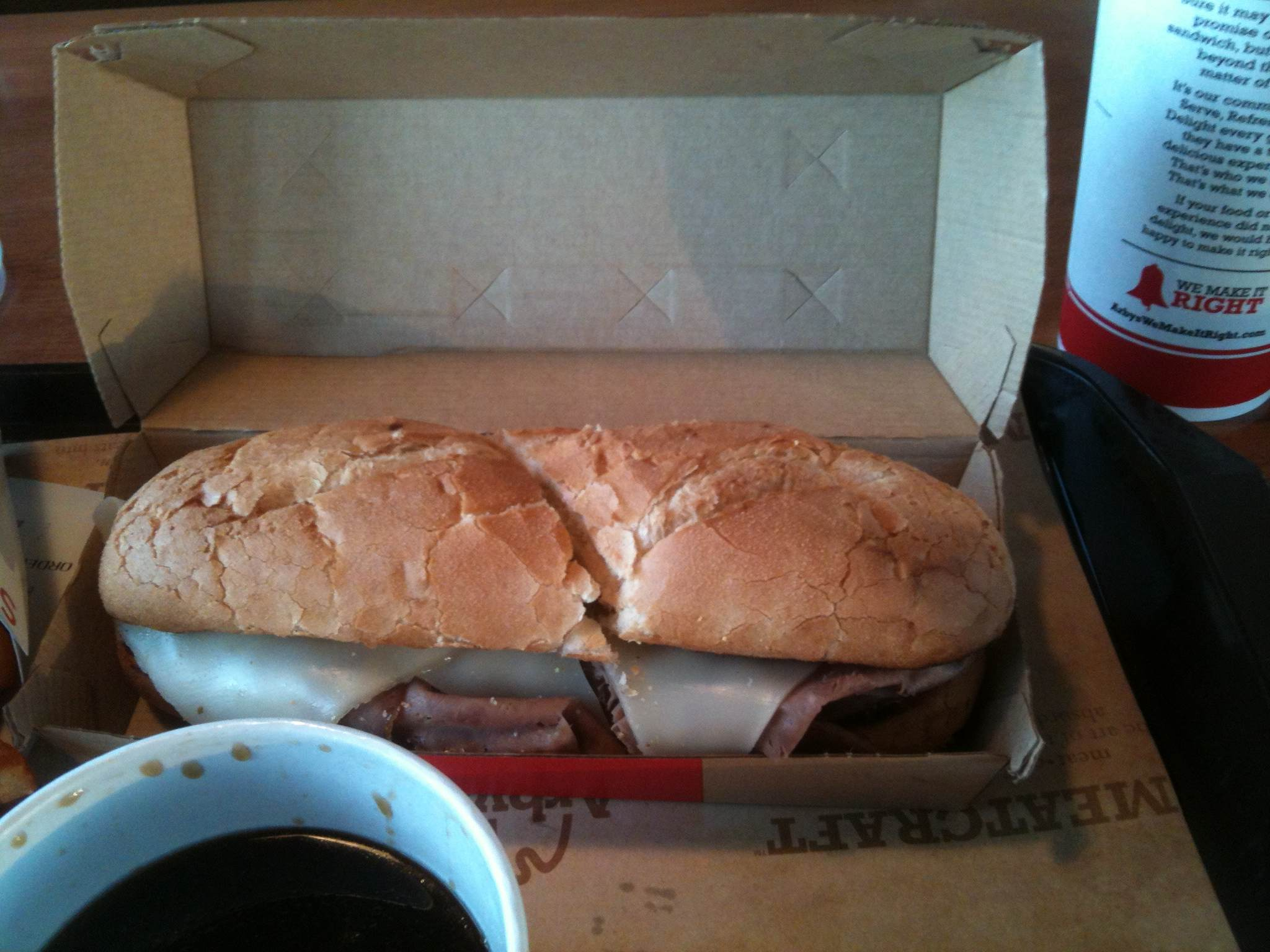 French dip, fast-food style
