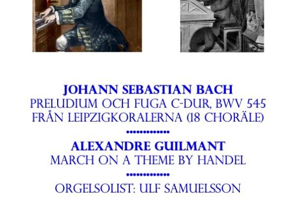 Affisch orgelkonsert