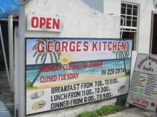 George's Kitchen San Pedro Belize