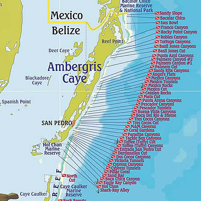 dive-map-ambergris-caye-belize