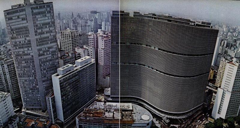 Edifício Itália e o Copan em 1967.