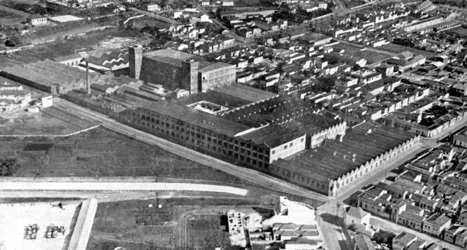 Vista aérea da Mooca em uma imagem do Acervo do Memorial do Imigrante