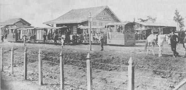 Estação Vila Mariana do Tramway de Santo Amaro em 1890.