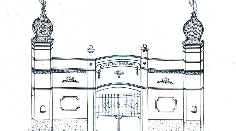 Desenho da fachada do Coliseu Paulista