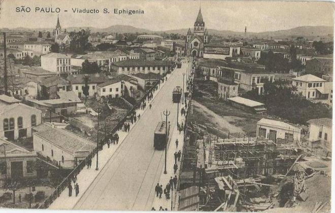 Viaduto de Santa Ifigênia em 1913