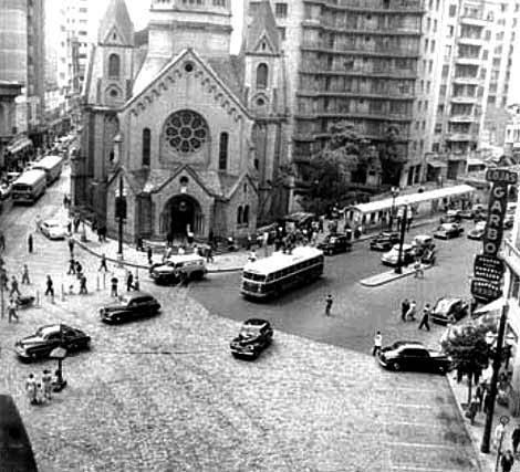 Largo Santa Ifigênia Ano 1957.