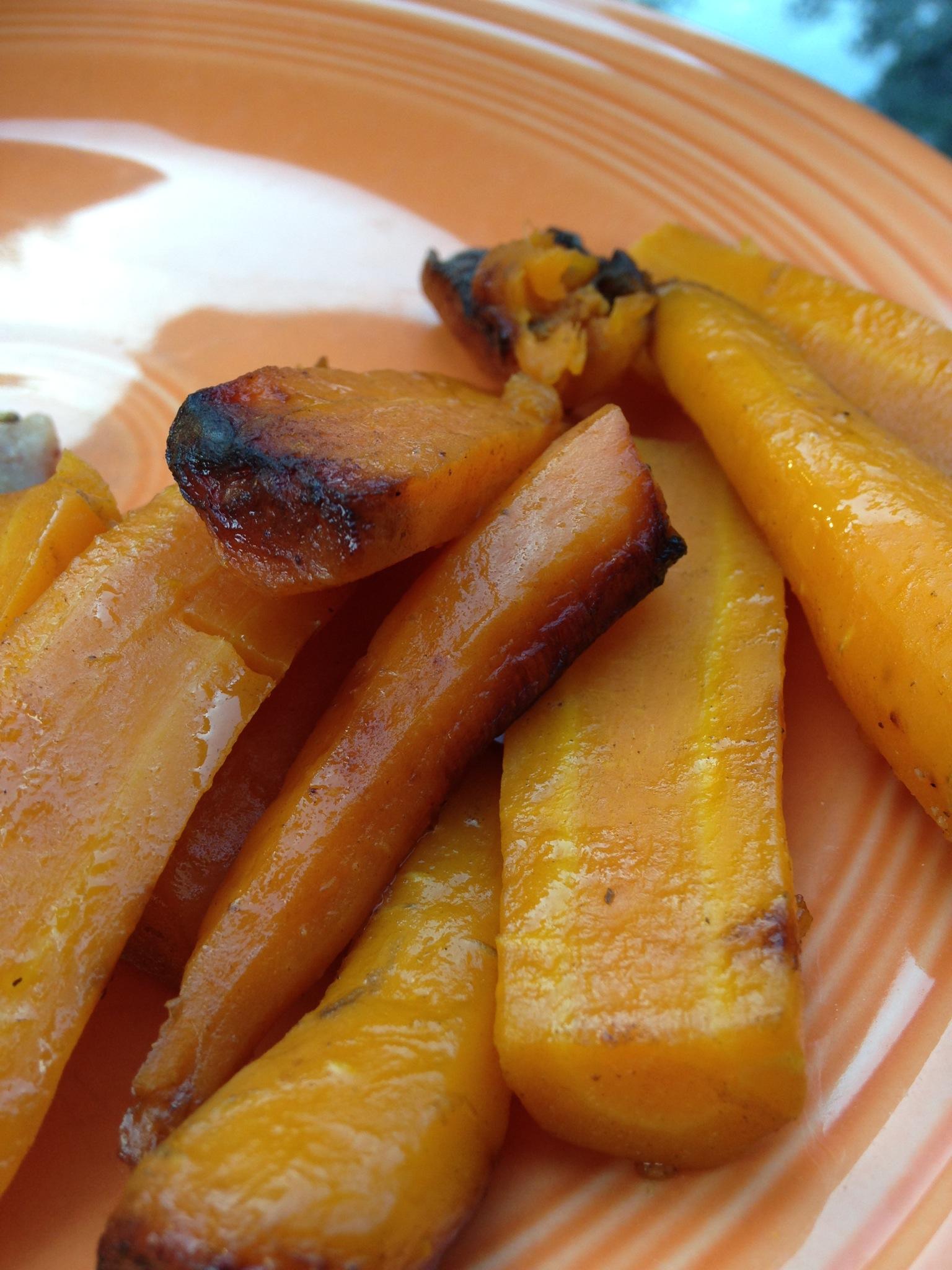 vanilla roasted carrots