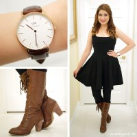 OOTD: Little Black Dress + Boots