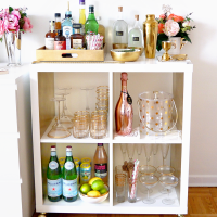Bar Cart Essentials { Home Bar Haul }