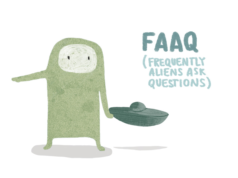 FAAQ - frequently aliens ask questions (short stories)