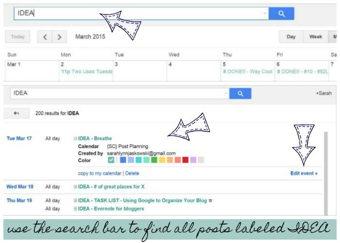 Using Google To Organize Your Blog-Planning Blog Posts, search bar | Sarah Celebrates
