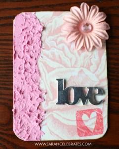 Valentines Artist Trading Cards - Flower love #MixedMedia #atcs