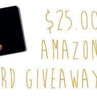 Amazon Gift Card Giveaway   $25.00