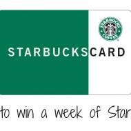 Starbucks Card Giveaway   $35.00