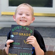 Dustyn's First Day of 1st Grade
