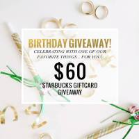 $60 Starbucks Gift Card Giveaway