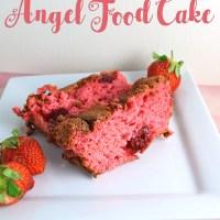 Easy Strawberry Angel Food Cake