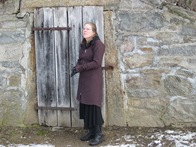 Author Sarah L. Thomson at the site of her novel MERCY