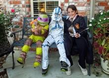 Donatello (Colt), Clone Trooper (John), Harry Potter (Caroline)