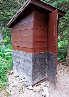 Pit Toilet. i.e. outhouse