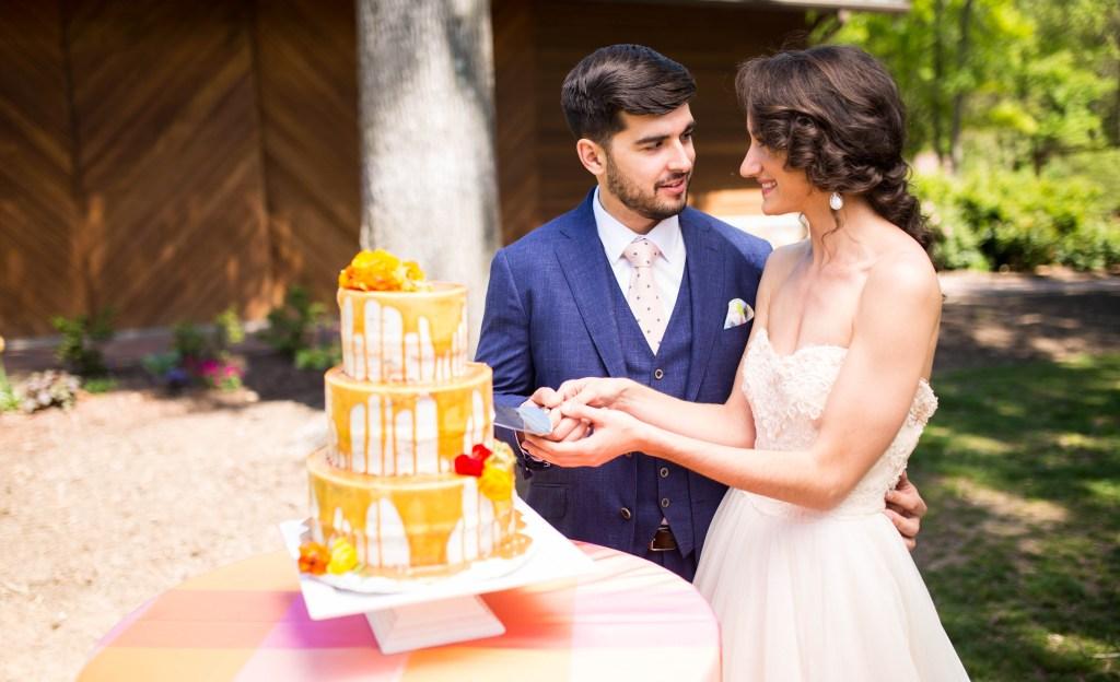 Pantone Inspired Wedding Feature Aisle Perfect via Sarah Sofia Productions