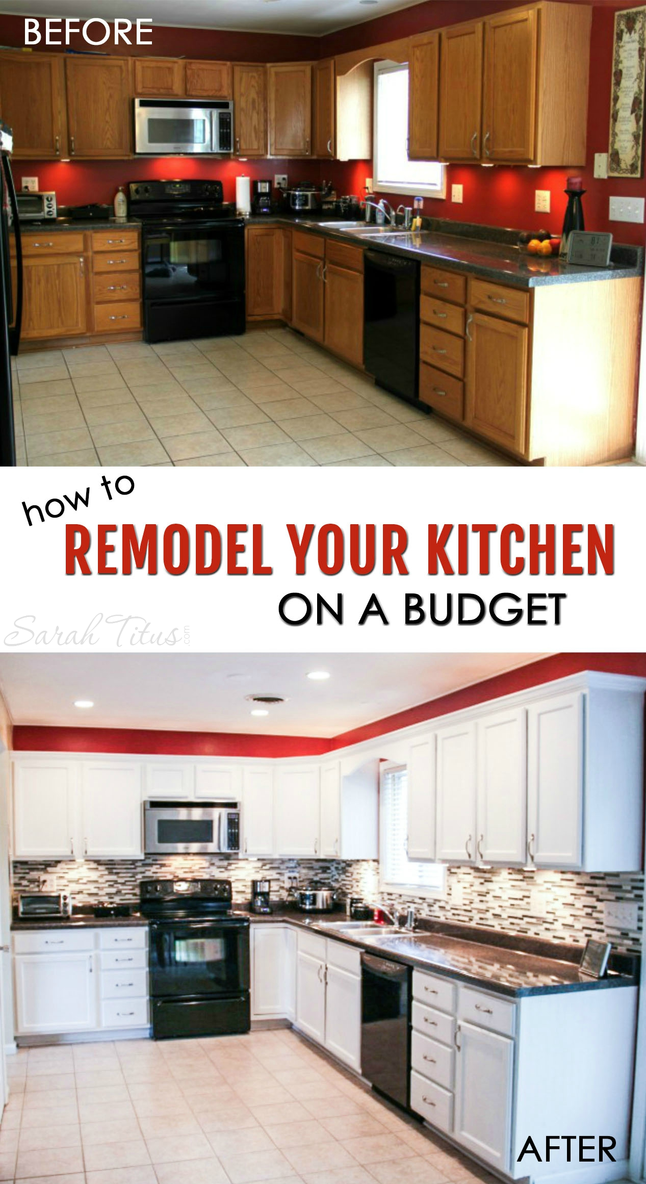 how to remodel your kitchen on a budget kitchen remodel budget Most kitchen renovations are very expensive but this trick can make your kitchen look brand