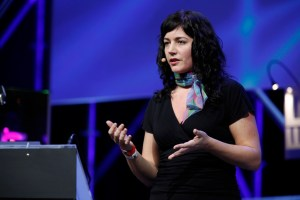 Sara Rosso speaking at Le Web