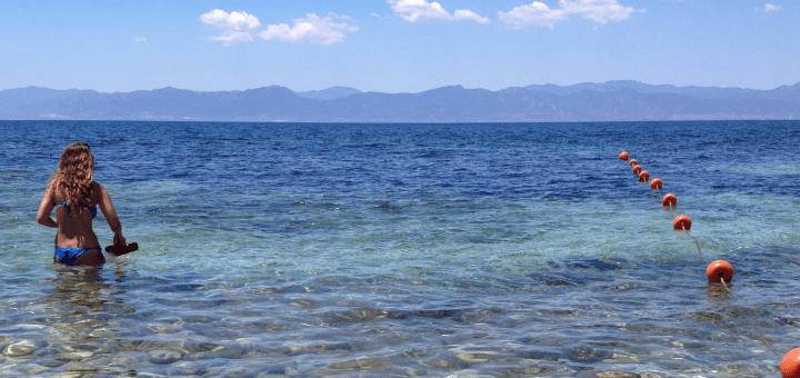 An der Südküste Sardiniens - wie hier an einem Strand bei Cala Mosca in Cagliari - wird die Wassertemperatur morgen auf 17,5 Grad steigen. Foto © Lüdeke