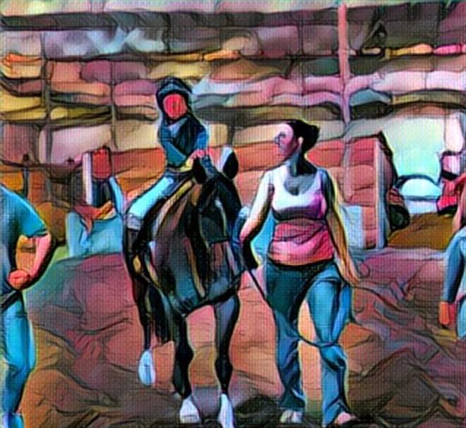 Child Horseback Riding Lesson