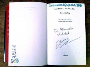 """Signierte Ausgabe von """"Rosenjahre"""""""
