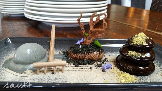 Santiago's amazing Choc Mousee dessert on the new Autumn Menu...