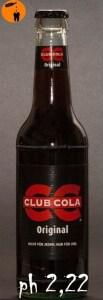 Club Cola ph Wert 2,22