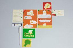 Don Cruton Branding menu food stickers branding
