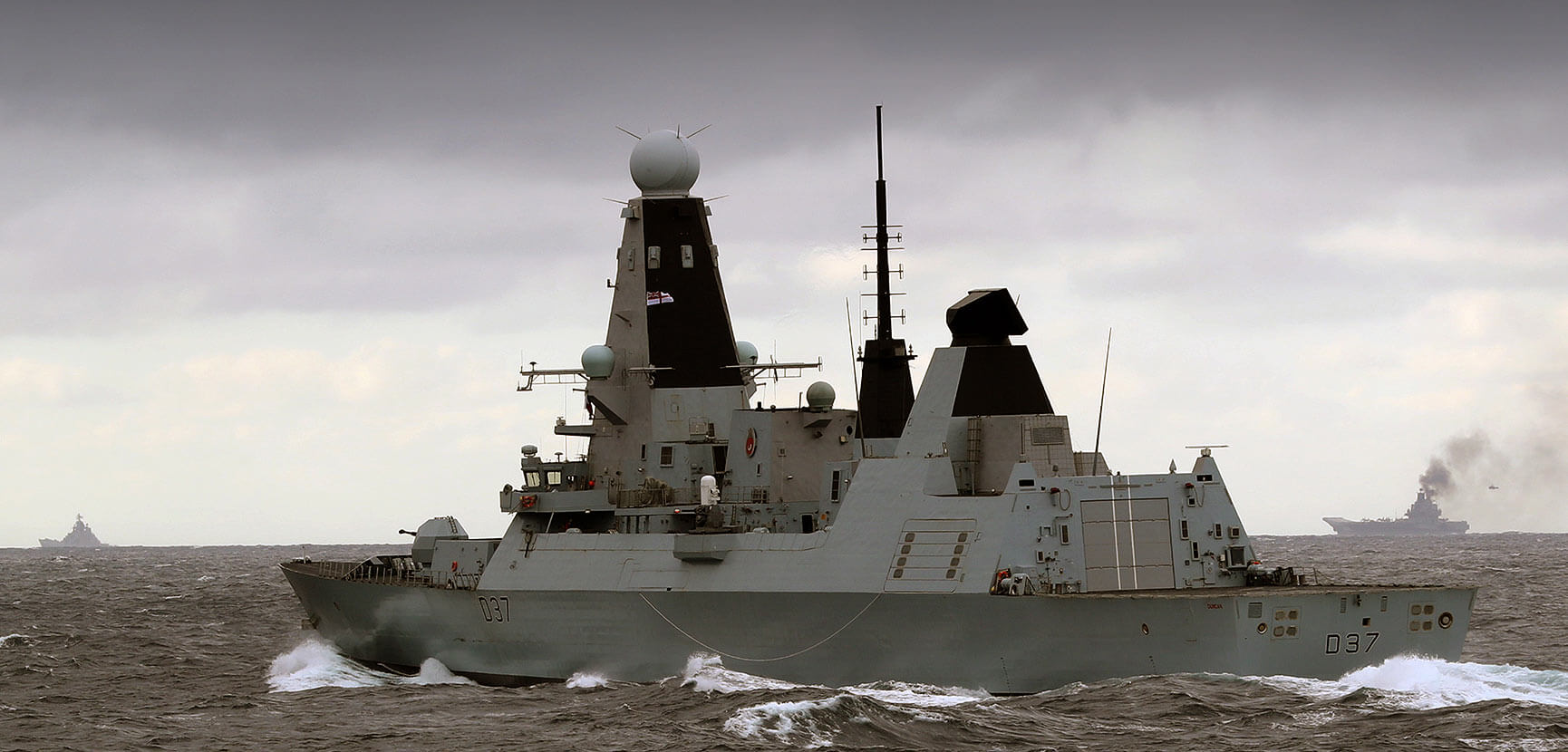 HMS Duncan shadows Russian warships