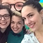 Selfie Lane Jurcevic i Marine Zilic i Lane Kassim iz Saveza drustava Nasa djeca