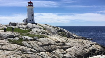 Visiting Peggy's Cove NS