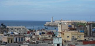 The view of the Malecon in Havana, Cuba