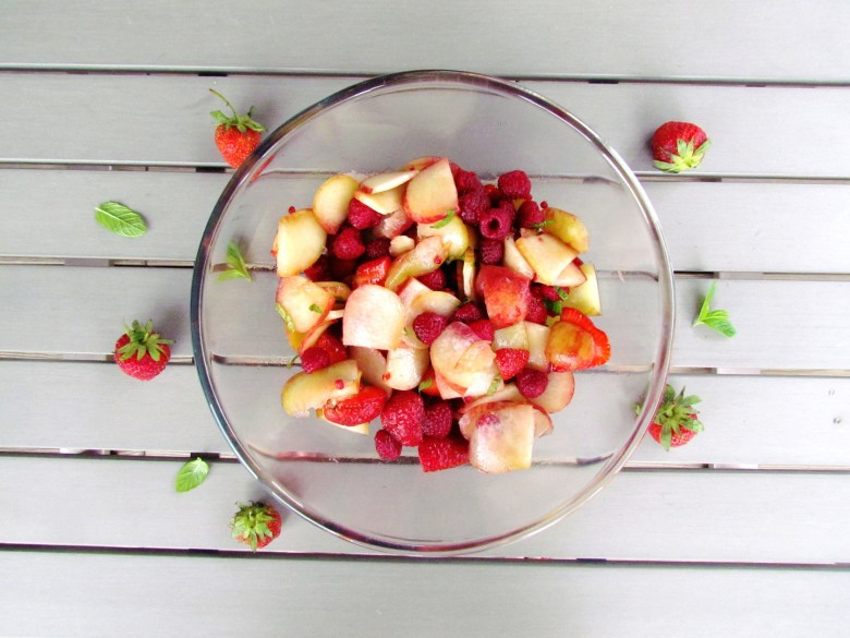 summer peach berry salad