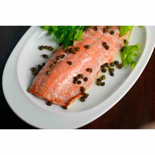 Medium Crop Of Salmon With Capers