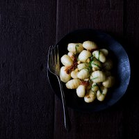 Gnocchi with Sun-Dried Tomatoes, Pancetta and Roquefort Cheese