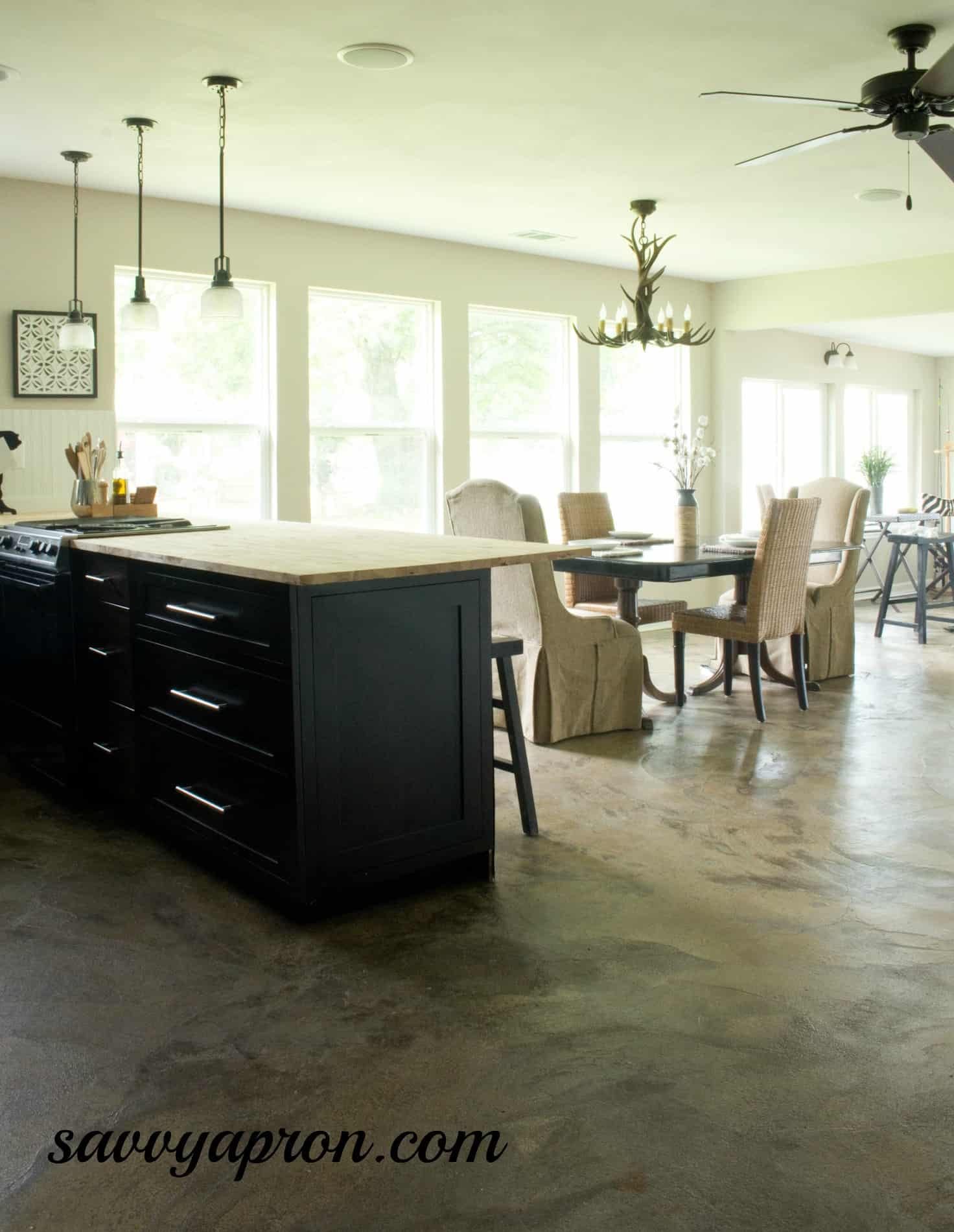 how we stained our concrete floors concrete kitchen floor stained concrete floor