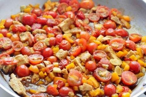 Cherry Tomato Stir Fry