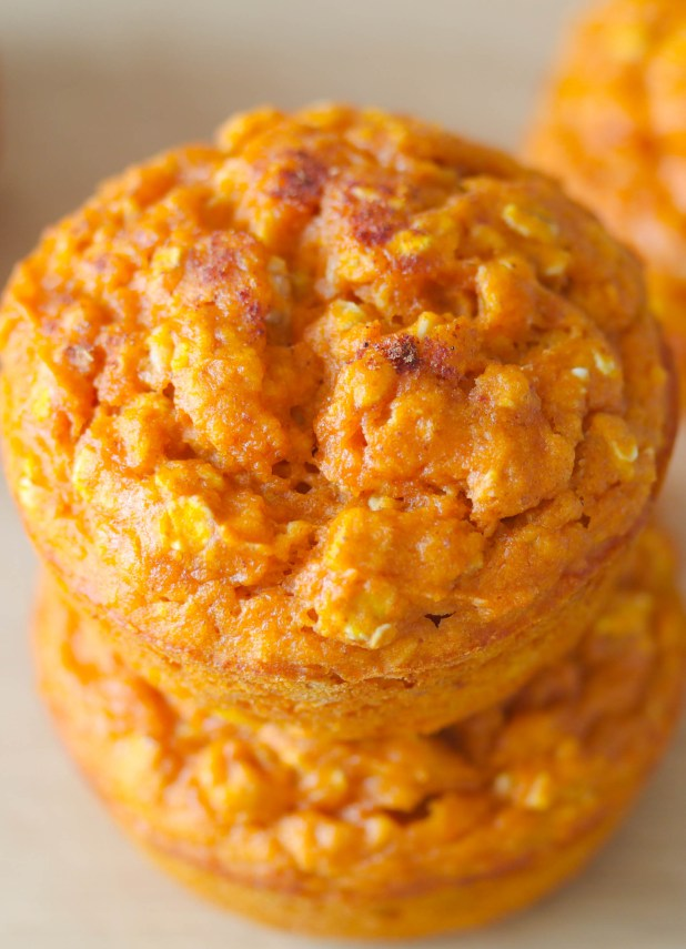 Made with real pumpkin these all natural Pumpkin Spice Oatmeal Muffins are full of flavor and worth ever bite!