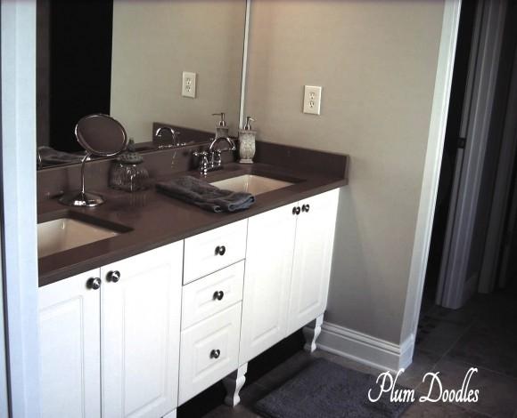 Bathroom Vanity with DIY Furniture Legs