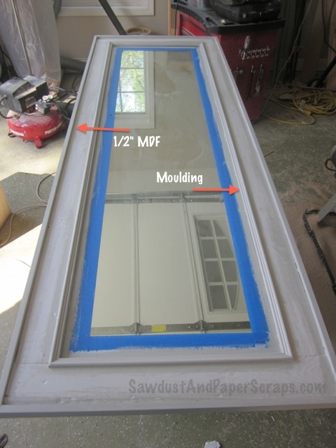 Easy DIY framed mirror.