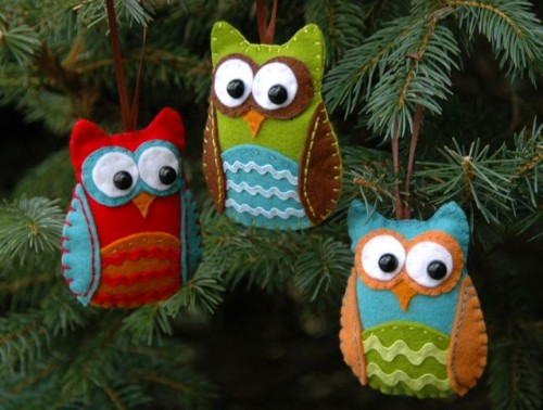 diy-felt- owl-christmas-tree-ornaments