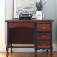 Coastal Blue Teacher's Desk