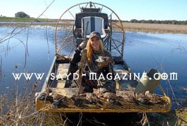 """الصيادة الأميركية لاريسا سويتلك لـ""""صيد"""" : انا صيادة بر وبحر وقد أمتشق السيف يومًا للمبارزة"""