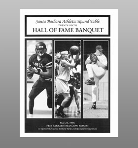Santa Barbara Athletic Round Table 1996 Hall of Fame Banquet Cover